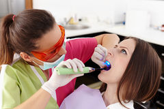 Filling a cavity Royalty Free Stock Photo