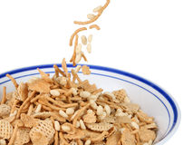 Filling the cereal bowl Stock Photo