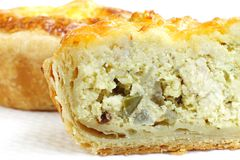 Filling in Delicious chicken tarts Royalty Free Stock Images