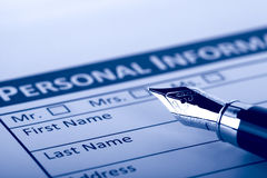 Filling Document Form. Paperwork, office, business Royalty Free Stock Photography