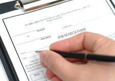 Filling Of Form Stock Photo