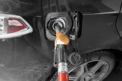 Filling Fuel In Car Stock Photo