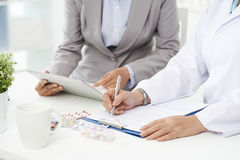 Filling general contract agreement Stock Image