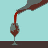 Filling Glass. Filling a glass of wine illustration Royalty Free Stock Photography