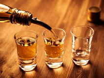 Filling Glasses Royalty Free Stock Photography