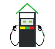 Filling Gun on Refueling the Car. Vector Illustration. EPS10 Royalty Free Stock Image