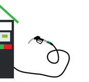 Filling Gun on Refueling the Car. Vector Illustration. Stock Photography