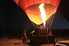 Filling hot air in ballon Stock Photography