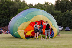 Filling the Hot Air Balloon Royalty Free Stock Photos