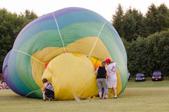 Filling the Hot Air Balloon Stock Photography