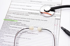 Filling insurance questionnaire Stock Photography