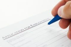 Filling job application Royalty Free Stock Photography