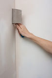 Filling the joints , aligns wall,alignment angles Royalty Free Stock Photography