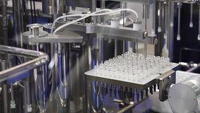 Filling machine, pharmaceutical equipment stock video footage