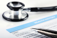 Filling Medical Form Stock Photography