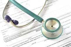Filling Medical Form Royalty Free Stock Images