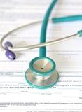 Filling Medical Form Stock Image