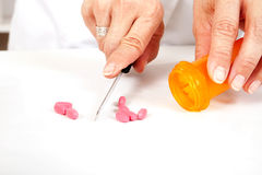 Filling Medicine Prescription Stock Photo