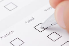Filling out the application form royalty free stock images