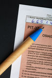 Filling in polish individual tax form PIT-37 for year 2013 royalty free stock image