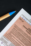 Filling in polish individual tax form PIT-37 for year 2013 Stock Image