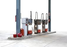 Filling pump scenery Royalty Free Stock Photos