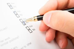 Filling Questionnaire royalty free stock photo