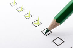 Filling questionnaire Stock Image