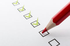 Filling questionnaire Stock Photography