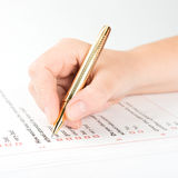 Filling of questionnaire Stock Image