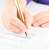 Filling of questionnaire Royalty Free Stock Image
