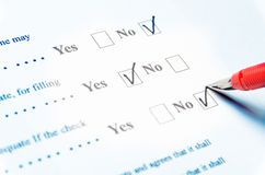 Filling Questionnaire Royalty Free Stock Images