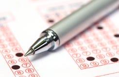 Filling registration form Stock Photo