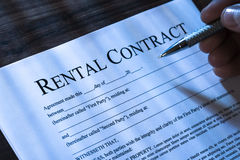 Filling Rental Agreement Form Royalty Free Stock Photography