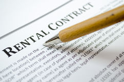 Filling rental contract Royalty Free Stock Photography