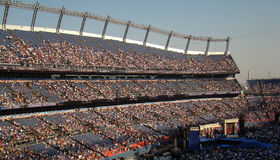 Filling Stands at DNC. Early view of stands as they are filling up in stadium last night of DNC at Invesco Field stock images