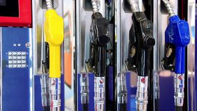 Filling station stock footage