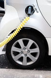 Filling station for electric cars Royalty Free Stock Images