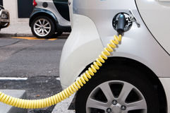 Filling station for electric cars Stock Photos