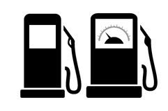 Filling station icon. Filling gas station vector icons set Royalty Free Stock Photography