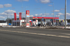 Filling station Lukoil on M8 highway in Sokol district Vologda region, Russia Royalty Free Stock Photos