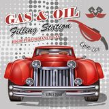 Filling station retro banner. The filling station retro banner Royalty Free Stock Photography