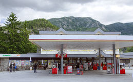 Filling station on a road to fjord in Norway Royalty Free Stock Photography