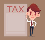 Filling tax form, Modern concept for web banners. Business concept Royalty Free Stock Photography