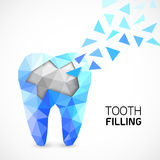 Filling tooth concept. Stock Photos