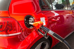 Filling Up the Car. With gas Royalty Free Stock Photography