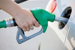 Filling up tank Royalty Free Stock Image