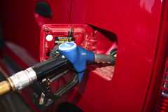 Filling up with unleaded fuel Royalty Free Stock Photo