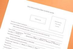 Filling visa Royalty Free Stock Image