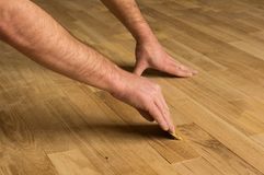 Filling the wooden floor. Royalty Free Stock Photos